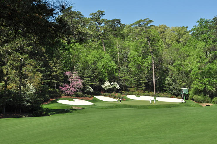 13th Green at Augusta National