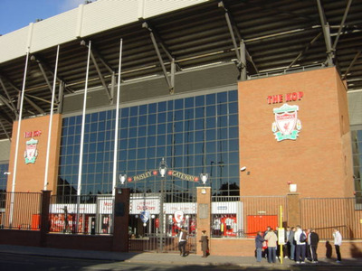 Kop End at Liverpool's Anfield Stadium