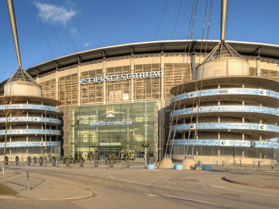 Colin Bell Stand at Manchester City's Etihad Stadium