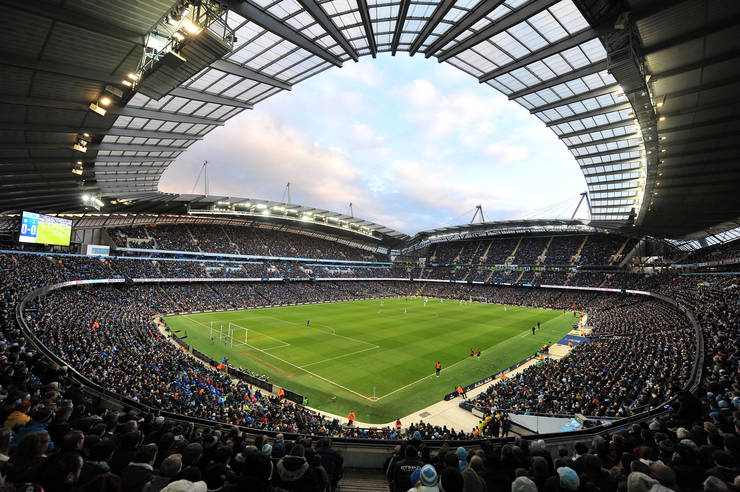 Match at Manchester City's Etihad Stadium