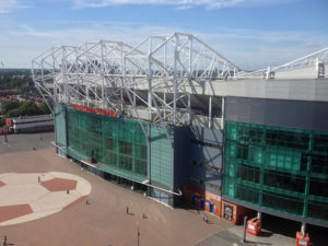 East Stand at Manchester United's Old Trafford Football Stadium