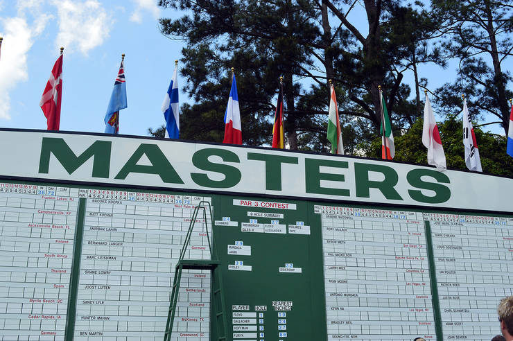Masters Leaderboard Showing Par 3 Contest