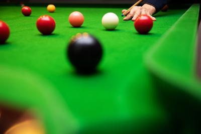 Snooker Shot on the Black Ball