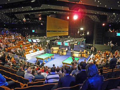 World Championship Snooker at the Crucible Theatre in Sheffield