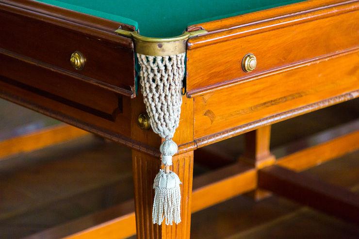 Corner Pocket of a Vintage Billiards Table