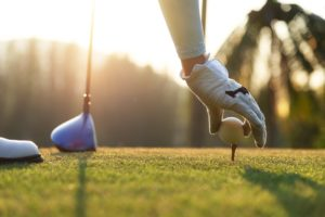 Golf tee close up