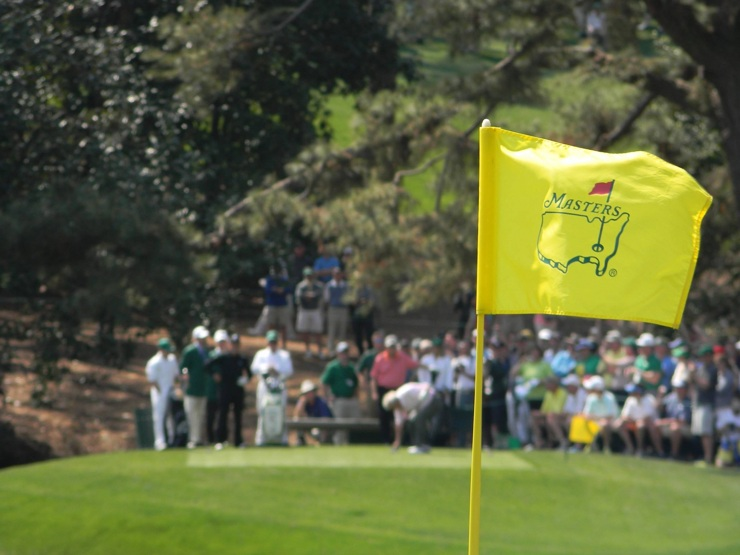 Masters Gold Flag on Course