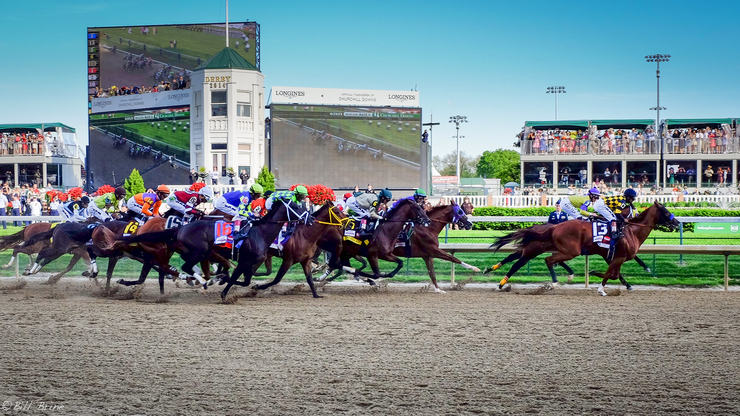The Kentucky Derby Race at Churchill Downs