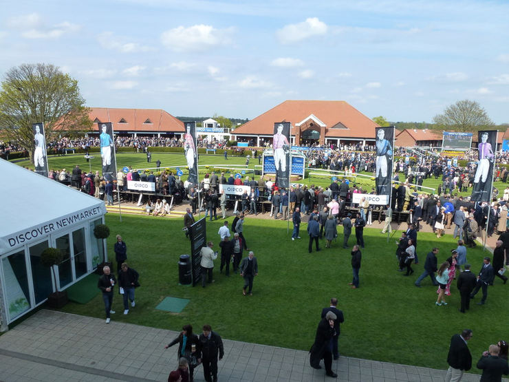 Parade Ring at Newmarket's Rowley Mile Racecourse