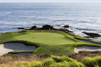 Golf Green at Pebble Beach California, USA