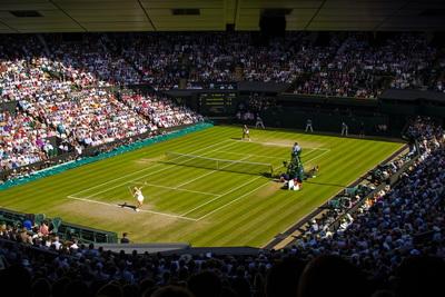 Centre Court at Wimbledon During Ladies Final Match