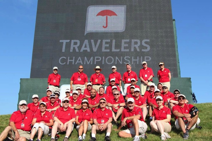Volunteers at the Travelers Championship