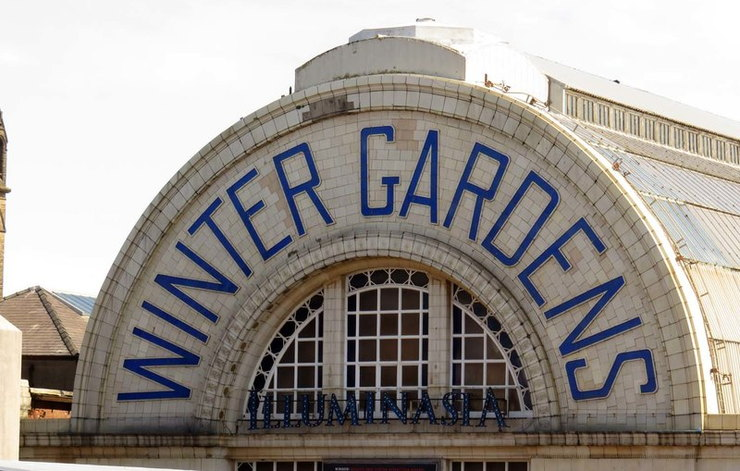 Entrance to the Winter Gardens in Blackpool