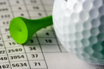 Golf Ball, Tee and Scorecard
