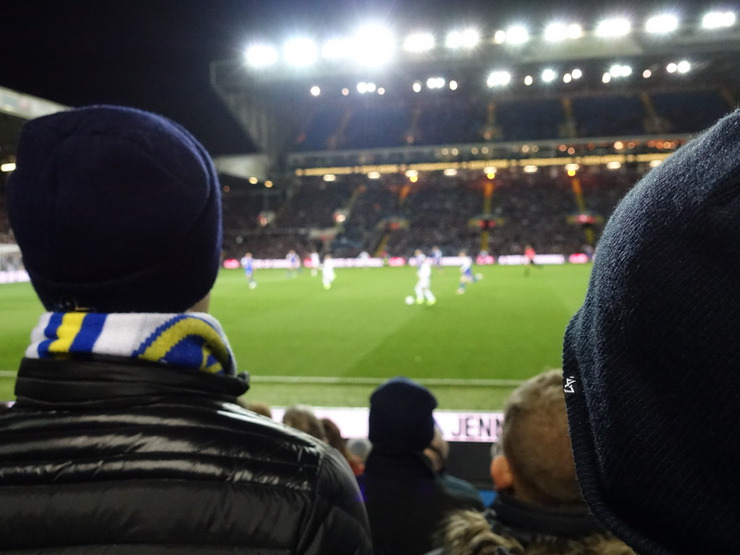 Leeds United Home Game Viewed From Crowd