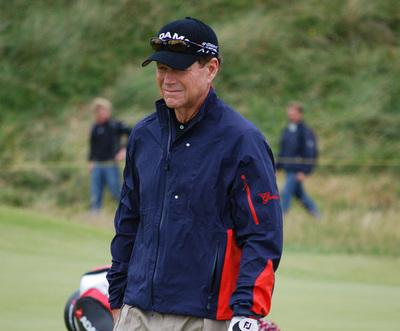 Golfer Tom Watson on Golf Course