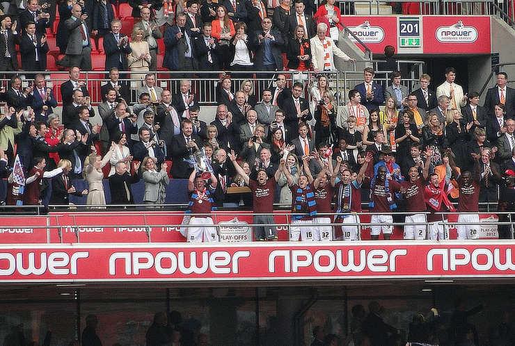 West Ham United Celebrating 2012 Play-off Victory