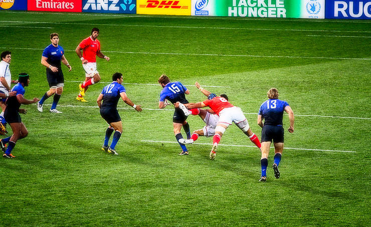 France Versus Tonga Match at the 2011 Rugby World Cup