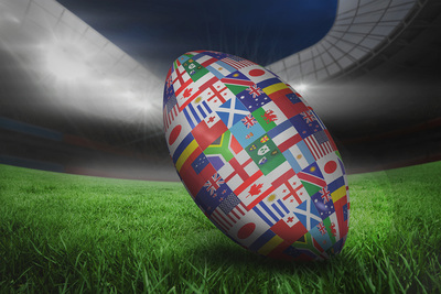Rugby World Cup Ball in Stadium