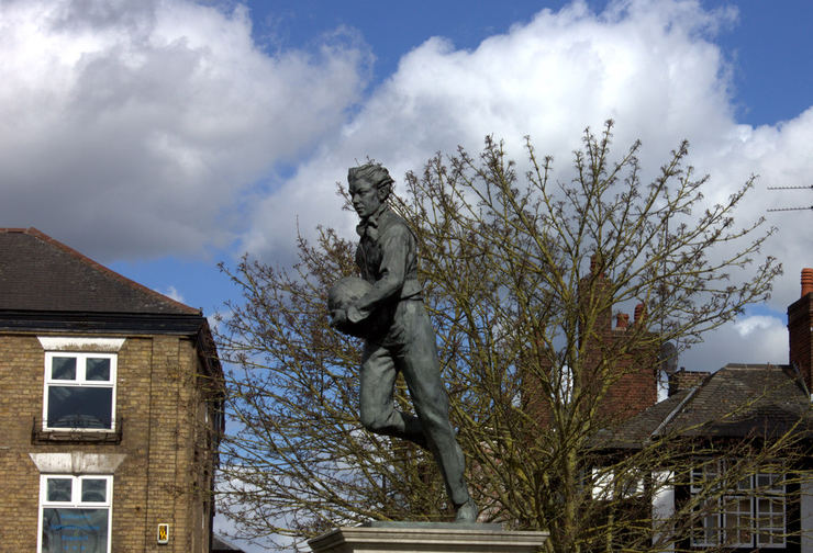 Statue of William Webb Ellis at Rugby School
