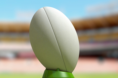 Rugby Ball on Stand