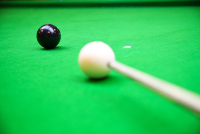 Snooker Shot on the Black