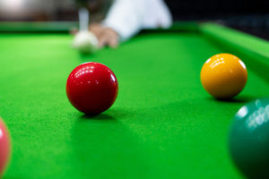 Snooker Shot on Red Ball