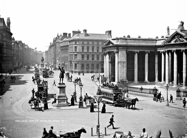 College Green in Dublin Circa 1890