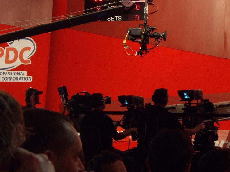 PDC World Championship Darts Television Cameras