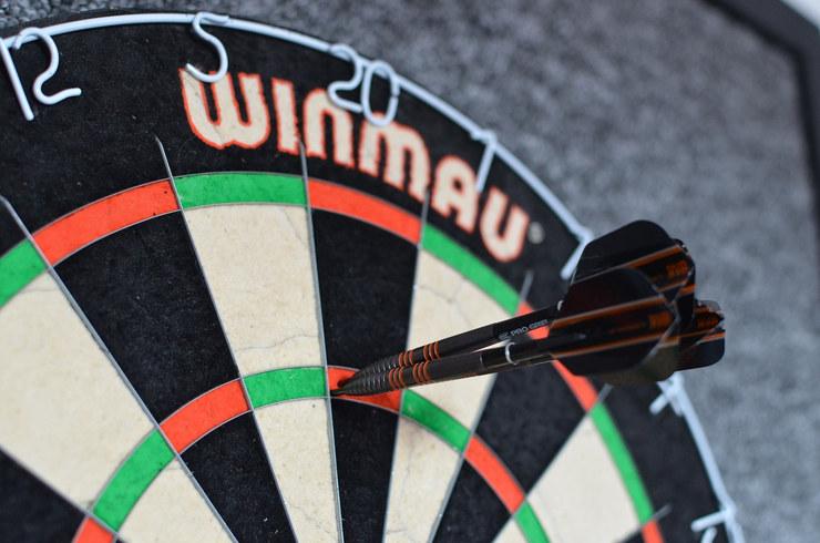 180 Score in Winmau Dartboard