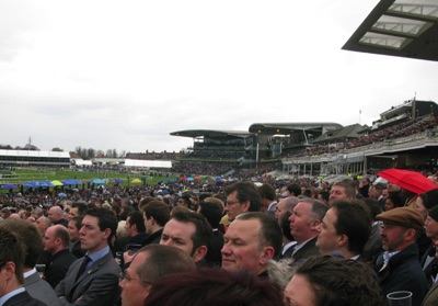 Crowds at Aintree for the Grand National