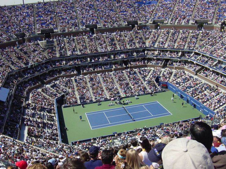 The Arthur Ashe Stadium in the USTA Billie Jean King National Tennis Center, Home of the US Open