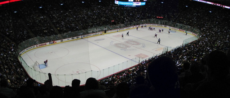 The Bell Centre in Montreal, home of the Montreal Canadiens