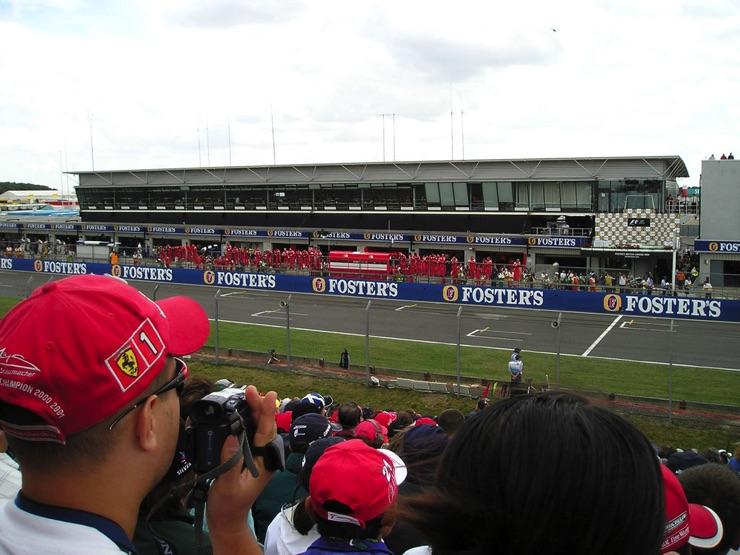 The British Grand Prix at Silverstone