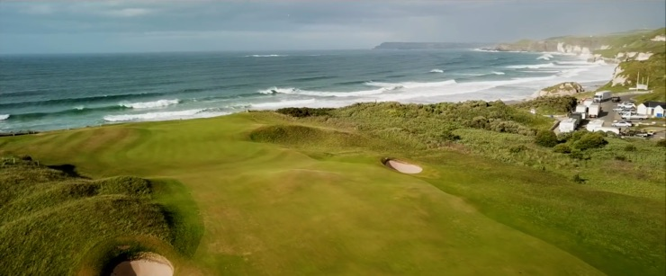 The British Open is played in a coastal location, such as the Royal Portrush