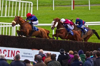 Racing at Fairyhouse Racecourse