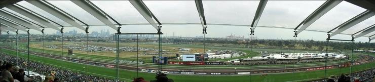 The Melbourne Cup at Flemington Racecourse