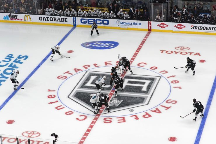 The Los Angeles Kings versus the San Jose Sharks in the 2016 Stanley Cup playoffs