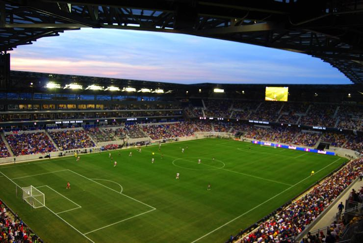 The Red Bull Arena - home of the New York Red Bulls