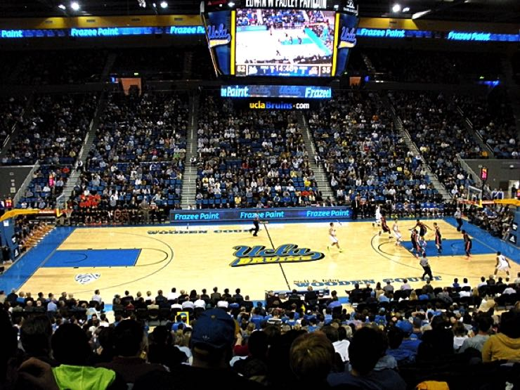 UCLA Basketball at Pauley Pavilion in Los Angeles, California
