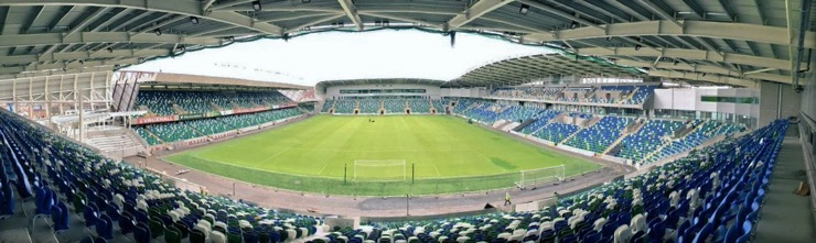 Windsor Park, home of the Northern Ireland national football team
