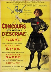 Poster for the 1900 Olympics in Paris