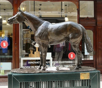 Red Rum statue in Southport