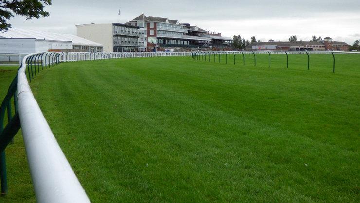 Bend on Ayr Racecourse