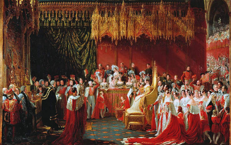 Painting of the Coronation of Queen Victoria by Sir George Hayter