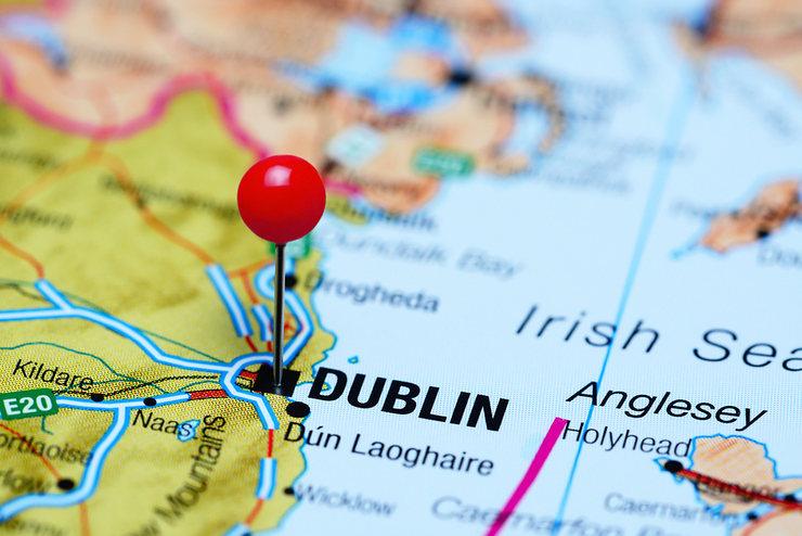 Dublin Pinned on Map