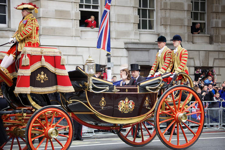 Duke and Duchess of Cambridge in a Royal Carriage