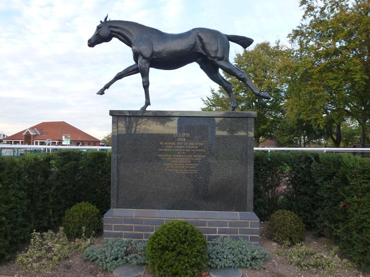Bronze Statue of Eclipse at Newmarket