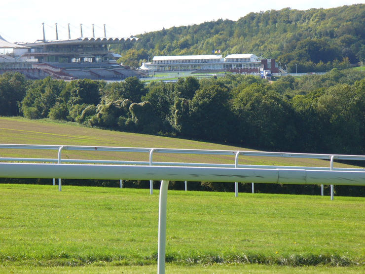 Goodwood Racecourse Grandtands Viewed from Across the Track