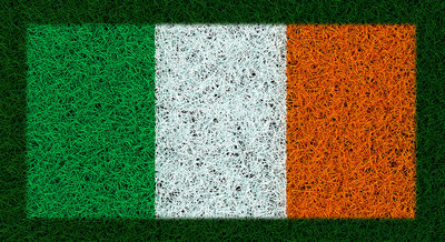 Ireland Flag on Grass